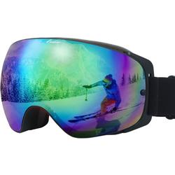 Elegear Skibrille, (1-St), Skibrille Damen Skibrille Herren Ski Goggles Snowboardbrille Anti-Fog 100% UV400 Schutz Verspiegelt Schneebrille Helmkompatible Skibrille für Snowboard Skifahren