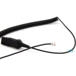 AxTel HIS Spiralkabel 0,5-2 m. QD / RJ-Kabel für Avaya AXC-HIS