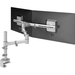 Monitorarm viewgo Schreibtisch 132 für 2 Monitore silber