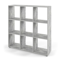 Vicco Raumteiler NOVE 9 Fächer Grau Beton - Würfelregal Raumtrenner Standregal