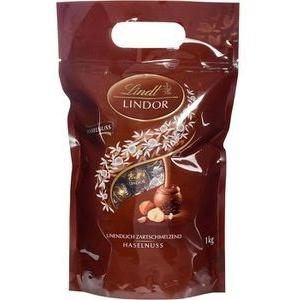 Lindt Pralinen Lindor Haselnuss, Schokolade mit zartschmelzender Füllung, 1kg