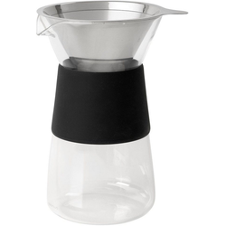 BLOMUS Kaffeebereiter GRANEO M, 0,8l Kaffeekanne, Permanentfilter, für handgefilterten Kaffee, Edelstahl/Glas
