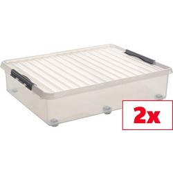 Helit Aufbewahrungsbox Sunware Q-line Transparent 60l (B x H x T) 500 x 200 x 800mm 2St.
