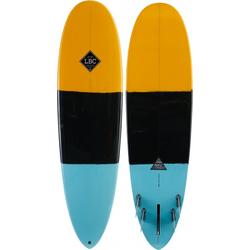 LIGHT DROP Surfboard yellow/black/turquoise - 6,10