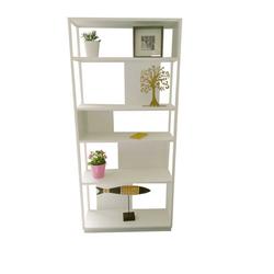 Metall Bücherregal in Weiß 200 cm hoch
