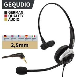 Headset 1-Ohr mit 2,5mm Klinke kompatibel für Gigaset/Cisco-SPA/Panasonic