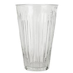 Ib Laursen Blumentopf Vase Blumenvase Glas Gerillt Hoch 25cm Ib Laursen 06995-00