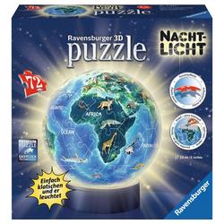 Ravensburger 3D-Puzzle Erde Im Nachtdesign - Puzzle-Ball, Nachtlicht, 72 Puzzleteile bunt