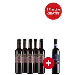 5+1-Paket Sartori Murari Rosso Verona + Gratis Festtagswein - Weinpakete