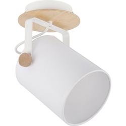 Licht-Erlebnisse Wandstrahler RELAX Wandlampe Stoffschirm Holz Strahler Spot Flur Leselampe Lampe