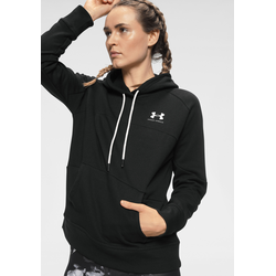 Under Armour Kapuzensweatshirt RIVAL FLEECE COLOR BLOCK HOODIE schwarz Damen Pullover