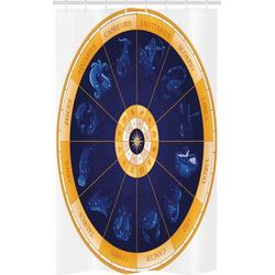 Abakuhaus Duschvorhang Badezimmer Deko Set aus Stoff mit Haken Breite 120 cm, Höhe 180 cm, Astrologie Geburtshoroskop Horoskop