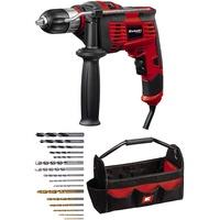 Einhell Schlagbohrmaschinen-Set TC-ID 1000 E Kit (1.010 W, Bohrleistung Holz 32 mm, Metall 13 mm, Beton 16 mm, 13 mm Schnellspannbohrfutter, inkl. 16-