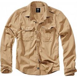 Brandit Vintage Hemd Herren - Camel - 5XL
