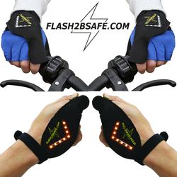 e4fun Fahrradhandschuhe Flash2besafe Der Original Handblinker für Fahrrad Fahrräder,Scooter, LED Handschuhe Handschuh-Blinker Sicherheit