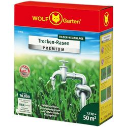 WOLF-Garten Rasensamen L-TP 50 Trocken-Rasen PREMIUM, 1,5 kg, zur Neuanlage