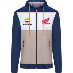 GP-Racing Repsol Regenjacke, weiss-blau, Größe XL