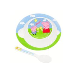 Peppa Pig Kindergeschirr-Set Peppa Wutz Geschirr-Set Teller und Löffel (2-tlg), BPA-Frei