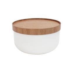 mokebo Couchtisch Die Behüterin, auch als Beistelltisch im skandinavischen Design weiß 62 cm x 34 cm x 62 cm