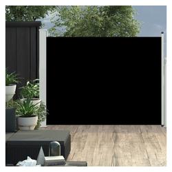 vidaXL Sonnenschirm vidaXL Ausziehbare Seitenmarkise 170×500 cm Schwarz