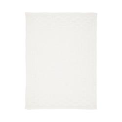 Kinderdecke Strickdecke Karo grau 75 x 100 cm, Alvi® weiß