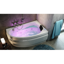 Emotion Whirlpool-Badewanne Stardust rechts Whirlpool Set ohne Armatur