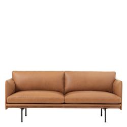 Outline Sofa 2-Sitzer Leder Cognac Muuto