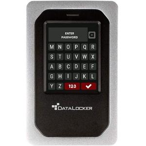 DataLocker DL4 FE 2TB USB-C / -A SSD mit AES-256bit Hardware-Verschlüsselung, Farbdisplay und FIPS 140-2 Level 3 Zertifizierung, DSGVO/GDPR konform, DL4-SSD-2TB-FE