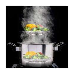 kueatily Dampfgareinsatz Lotus Faltdampfer Korb, Obstteller Dampfer, Faltbarer Edelstahl Dampfer Korb, Geeignet für Obst und Gemüse, Obst, Babynahrung
