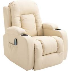 HOMCOM TV Sessel mit Massage- und Wärmefunktion 90 x 93 x 103 cm (LxBxH)   Massagesessel Fernsehsessel Relaxsessel Sessel
