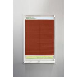 Plissee UNI, my home, Lichtschutz rot 90 cm x 130 cm