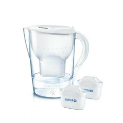 BRITA Wasserfilter Marella XL inkl. 2 MAXTRA+ Tischwasserfilter weiß
