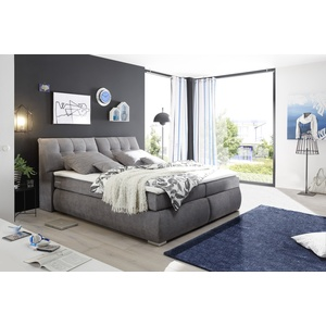 Boxspringbett Bregenz grau Boxspringbetten mit Bettkasten Betten Komplettbetten