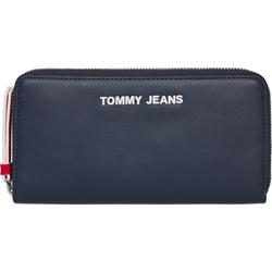 TOMMY JEANS Geldbörse TJW PU LG ZA WALLET, im praktischem Format blau