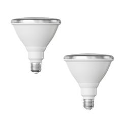 E27 PAR38 LED Reflektor-Leuchtmittel 16W =175W 1700lm weiß A+ auch wetterfest mit kurzem Hals, 2 Stk.