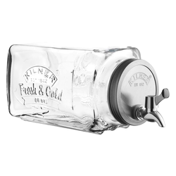 KILNER Getränkespender aus Glas mit Zapfhahn, 3 L