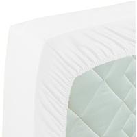 Curt Bauer Mako-Satin Spannbetttuch weiß, 140x200 cm
