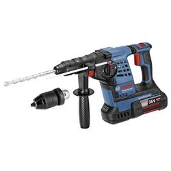 BOSCH Werkzeug Akku-Bohrhammer GBH 36 VF-LI Plus Professional,blau, L-BOXX,2x Akku 4,0Ah