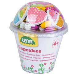 LENA® Holzperlen Cupcakes, pink