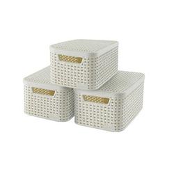 curver STYLE S Aufbewahrungsboxen beige 29,1 x 19,8 x 14,2 cm
