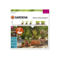 GARDENA Bewässerungs-Set Micro-Drip-System Start Set Pflanztöpfe M 15,0 m Verlegerohr, 10,0 m Verteilerrohr