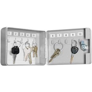 Mini-Stahl-Schlüsselschrank für 10 Schlüssel, mit Sicherheitsschloss