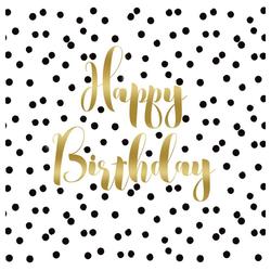 PPD Papierserviette Birthday Confetti 20 Stück 33 cm