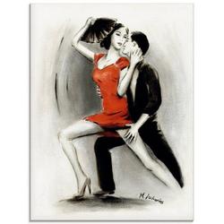 Artland Glasbild Leidenschaftliches Tanzpaar, Menschen (1 Stück) 60 cm x 80 cm x 1,1 cm