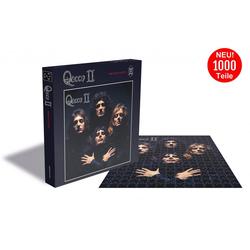 empireposter Puzzle Queen Queen II - 1000 Teile LP Cover Puzzle im Format 57x57 cm, 1000 Puzzleteile