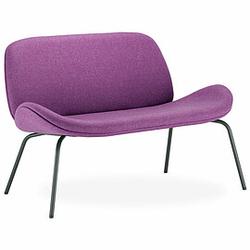 TILKKA 2-Sitzer Sofa mit 4-Fuß-Metallgestell, vollgepolstert