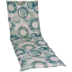 GO-DE Liegenauflage, 190 x 60 cm blau Liegenauflagen Gartenmöbel-Auflagen Gartenmöbel Gartendeko Liegenauflage