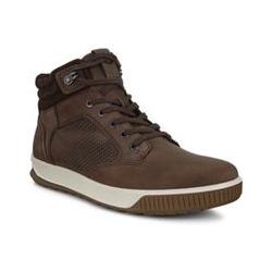 ECCO Byway Tred High Top Sneaker, Herren, Größe: 44 Normal, Braun, Leder, by Lands' End, Kaffee - 44 - Kaffee
