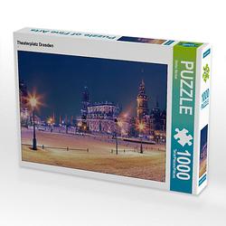 Theaterplatz Dresden Lege-Größe 64 x 48 cm Foto-Puzzle Bild von Stefan Becker Puzzle