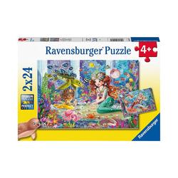 Ravensburger Puzzle Puzzle Zauberhafte Meerjungfrauen, 2x24 Teile, Puzzleteile